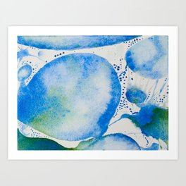 Blue Study Art Print