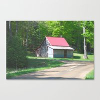 cabin Canvas Prints featuring Cabin by Lyn Potter
