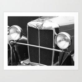 MG TC sports car Art Print