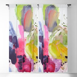 Acrylic Colorful abstraction  Blackout Curtain