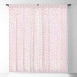 Hand Knit Bubblegum Blackout Curtain