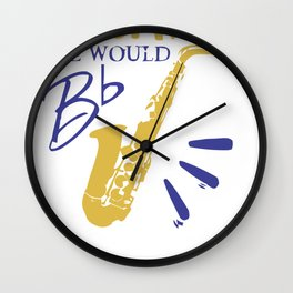 Without Saxaphone Wall Clock