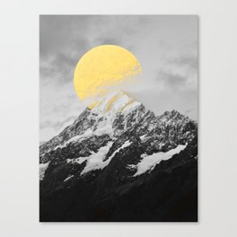 Moon dust mountains Canvas Print