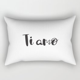 I Love You in Italian Rectangular Pillow