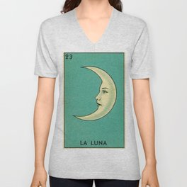 La Luna Card Unisex V-Neck