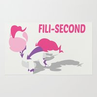 fili Area & Throw Rugs featuring My Little Pony - Minimal Pinkie Pie as Fili-Second by John Takacs