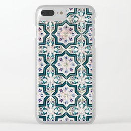 Portuguese Tiles Clear iPhone Case