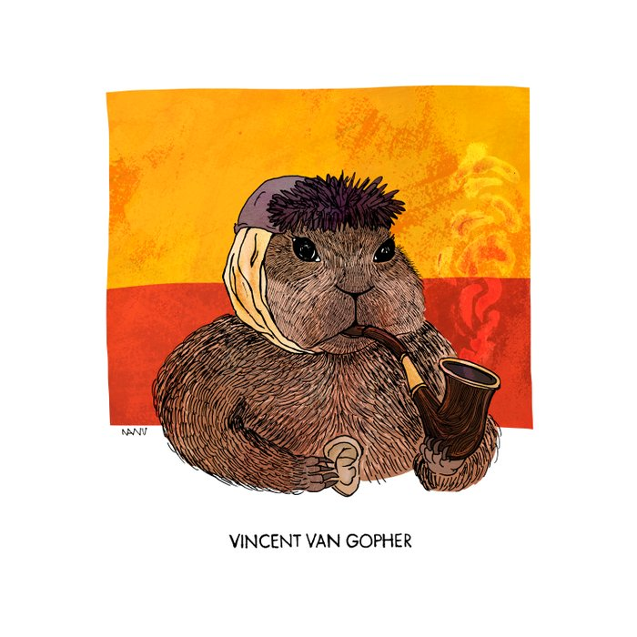 Vincent van Gopher Comforters