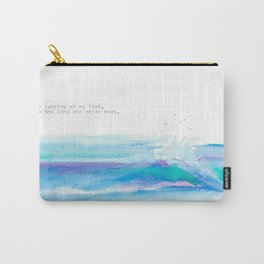 Where the Land and Ocean Meet Carry-All Pouch