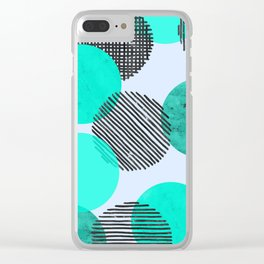 Blue Dot Pattern Clear iPhone Case