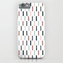block print dash - multi muted iPhone Case