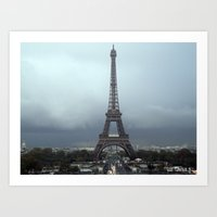 eiffel Art Prints featuring Eiffel by JBuck