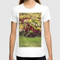 vintage flowers T-shirts featuring Vintage Pretty Flowers by Victoria Herrera