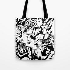 Doktor Steampug- Black and White Tote Bag