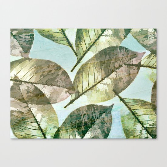 Vintage Leaf Abstract Canvas Print