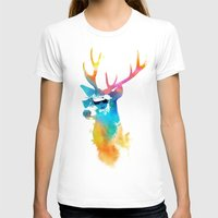 stag T-shirts featuring Sunny Stag by Robert Farkas