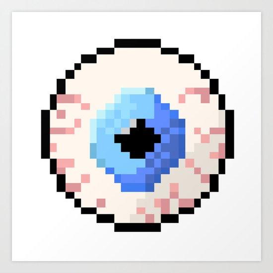 Eyeball Art Print