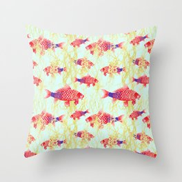 Carpe Diem  with Seaweed Throw Pillow