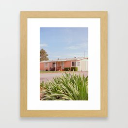 Pink Home in Washington State Framed Art Print