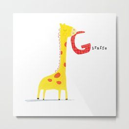 G is for Giraffe Metal Print