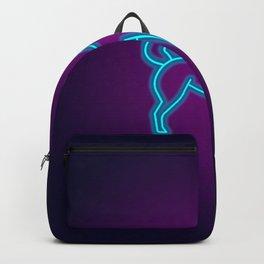 NEON BORDER COLLIE DOG Backpack