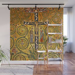 Byzantine Christian Crucifixion Apse Mosaic Wall Mural