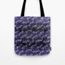 Purple Dragonfly Twighlight Dance Tote Bag
