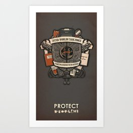 Inter-Worlds Task Force Art Print