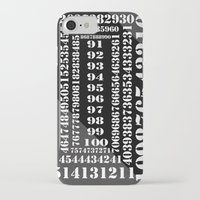 numbers iPhone & iPod Cases featuring NUMBERS by Patrick D. Ottinger