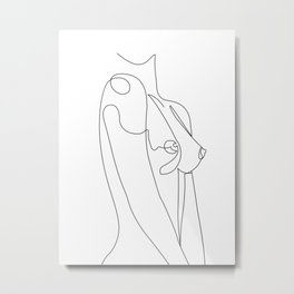 female body line Metal Print