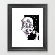It's a starry coffeenight Framed Art Print