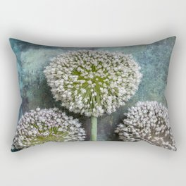 Three Allium Flowers Rectangular Pillow