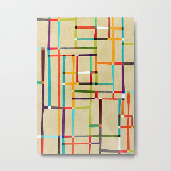 The map (after Mondrian) Metal Print