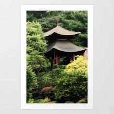 Garden tempel Art Print