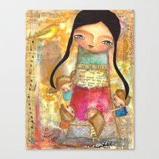 Music - teacher and children Canvas Print