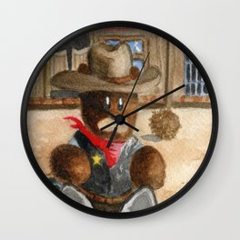 Sheriff Bear Wall Clock