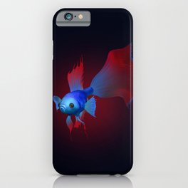 Betta Fish red iPhone Case