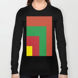 Very squared and precise and rectangular. Very very angular crafted shapes. Nothing else to say. Long Sleeve T-shirt