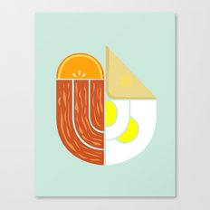 Breakfast Crest Canvas Print