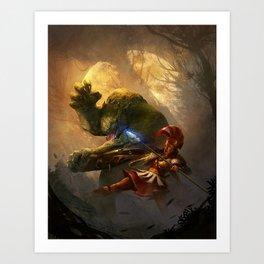 RuneQuest 6 Cover Art Print