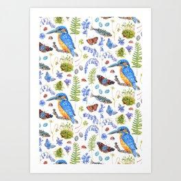 Woodland Stream Pattern Art Print