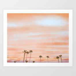 Palm Tree Sky | Citrus Art Print
