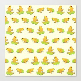 Frogs pattern Canvas Print