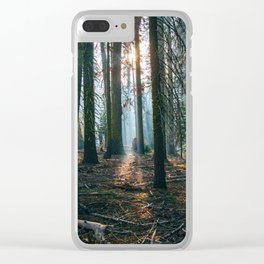 The woods are deep Clear iPhone Case