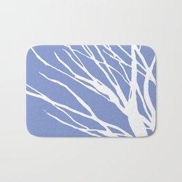 Tree Silhouette Periwinkle Blues Bath Mat