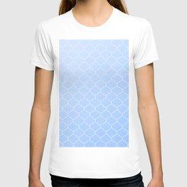 Blue Lattice Pattern T-shirt