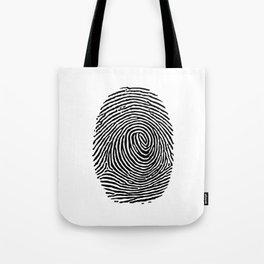 Fingerprint CSI crime scene Tote Bag