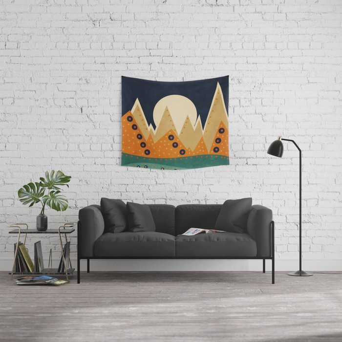Geometric Spring 03 Wall Tapestry