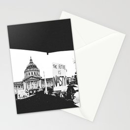 The Future is Nasty - The Women's March on San Francisco Stationery Cards