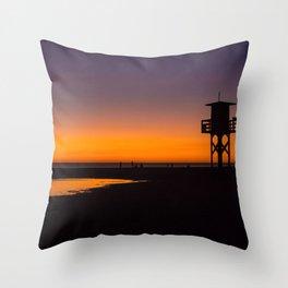 Tarifa sunset Throw Pillow